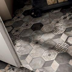 Klinkern Terra skapar fantastiska golv, både på grund av sin sexkantiga form och sina vackra mönster.