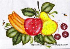 pintura em tecido frutas country