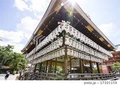 京都府京都市東山区の八坂神社の舞殿