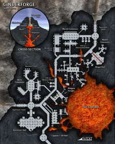 Cinderforge is a dwarven stronghold in my Forsaken Rift mini-setting.
