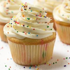 Easy super moist homemade funfetti cupcakes in 25 minutes. Completely from scratch. No cake mix needed!