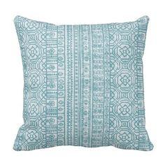 Outdoor Pillows, Outdoor Throw Pillows, Patio Pillows, Blue Outdoor Pillow,  Tribal Pillows, Boho Pillows, Blue Pool Pillows, 16 Inch Pillow