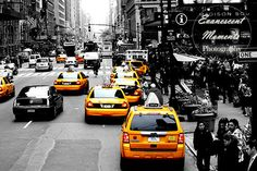 NYC New York City taxi yellow Manhattan Black by EvanescentMoments, $25.00