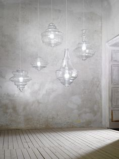 Blown glass pendant lamp LA SCALA - Lasvit
