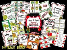1 Apple, 2 Apples, Johnny Appleseed Literacy Unit!