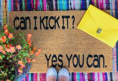 Tribe Called Quest Doormat, Can I Kick It Doormat, Hip Hop Doormat, Funny Tribe Called Quest Doormat, Hip Hop Quote Decor Friend Moving Away, 1990s Hip Hop, A Tribe Called Quest, Hip Hop Quotes, Funny Doormats, Heavy Rubber, Outdoor Paint, Boy Quotes, Friends In Love