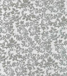 Keepsake Calico™ Cotton Fabric-Swirling Vines Gray