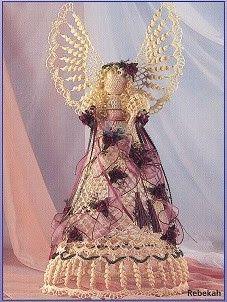 Lillian Crochet Angels for Christmas Beaded Angels, Crochet Angels, Christmas Angels, Christmas Diy, Christmas Ornaments, Crochet Christmas, Angel Pictures, Making Out, Crochet Patterns