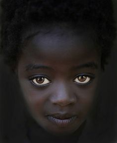 Africa |  'The girl with Big Eyes'.  Karo Tribe, Omo Valley | © Steve Wallace
