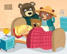 Afbeeldingsresultaat voor goudlokje en de 3 beren