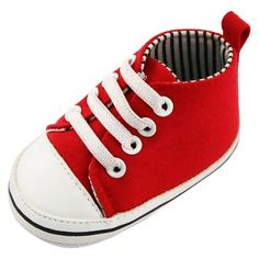 Baby Boys' Rising Star High Top Sneaker Crib Shoes Red