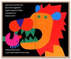 Circus by Lois Ehlert Buch Design, Design Art, Graphic Design, Collage Book, Book Art, Lois Ehlert, Book Design Inspiration, Happy Design, Magazines For Kids