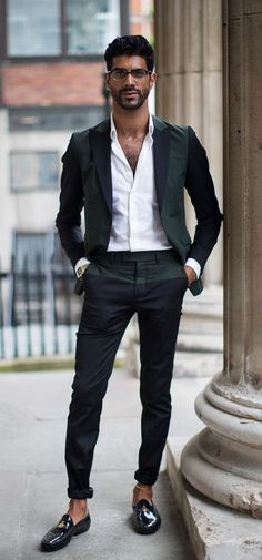 formal outfit - black loafers