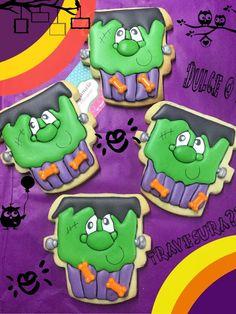 Frankenstein Cupcake Cookie