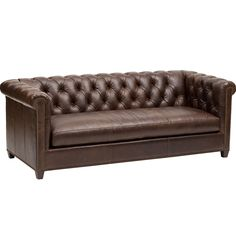 Henry Leather Sofa - Furniture - Sofas - Leather - Editor's Picks - Room Ideas - Living Room - Luxe Of The Draw