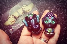 """136 Likes, 22 Comments - Paola Beatrix (@the_moon_beams) on Instagram: """"Also adding these two ooak little guys! A little Ganesh, but this time,full body And a little…"""""""