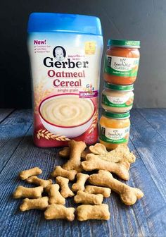 Simple Dog Cookies With Baby Food – Dog Food – Ideas Of Dog Food – These dog biscuits are made entirely of babies. This is an easy economic and healthy way to treat your dog. Puppy Treats, Diy Dog Treats, Healthy Dog Treats, Pumpkin Dog Treats, Frozen Dog Treats, Healthy Rice, Healthy Food, Healthy Recipes, Dog Biscuit Recipes