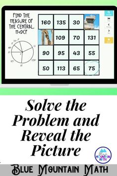 Are you looking for an interactive and self-correcting resource to practice finding the measures of central angles with your students? There are 2 different pictures with 16 problems for each picture. Students start with the picture totally covered by the answer boxes. As they answer each question correctly, more and more of the covered picture is revealed.