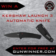 Enter to win a Kershaw Automatic Knife from GunWinner