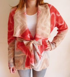 Felted cardigan exclusive effect eco tie dye by texturable on Etsy