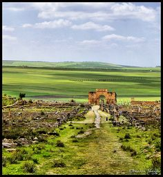 Morocco - Volubilis is a stunning site. The size is overwhelming. You cannot really get a sense of size until you stand in the middle of the ancient city. I loved touring it.