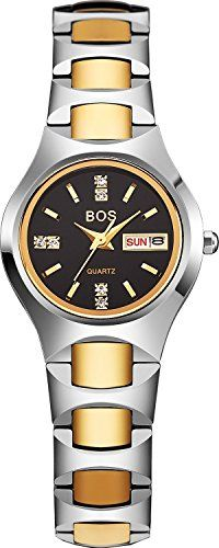 BOS Womens Luxury Analog Display Black Dial Waterproof Quartz Watch 8006g -- Continue to the product at the image link.