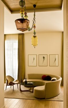 Pierr Yovanovitch deco at the Hotel Marignan Paris ,Suite prestige