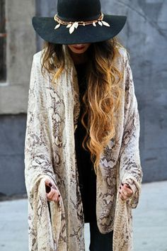hat with charms and baggy top - best BOHO blog