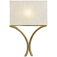 "Currey and Company Cornwall 18"" High Gold Wall Sconce - #4W721 
