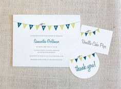 15 Free (and Adorable!) Printable Baby Shower Invitations: Bunting Baby Shower Printable Invitations by On To Baby