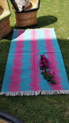 Modern Geometrical Pattern Cotton Handwoven Flat Weave Area Rug Decorative Rug  #Handmade #Braided Picnic Blanket, Outdoor Blanket, Slippery Floor, Dhurrie Rugs, Marble Floor, Weave, Hand Weaving, Area Rugs, Flat
