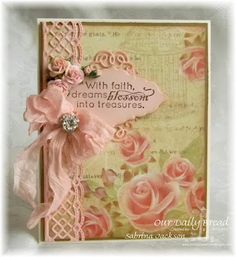 Our Daily Bread Designs Stamp sets: Blossom, ODBD Custom Dies: Beautiful Borders, Ornate Borders and Flower, Vintage Flourish Pattern, Our Daily Bread Designs Shabby Rose Paper Collection