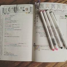 Bullet Journal idea /// This is something that can be adapted to writing, esp if you are having trouble keeping track of different points and elements either during the writing or the editing phase.