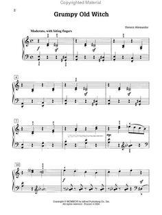 Sheet Music - Witches Song | Sheet Music : The Grumpy Sheep Teacher's Book