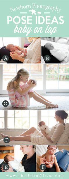 Precious Newborn Photography Pose Ideas Baby on Lap