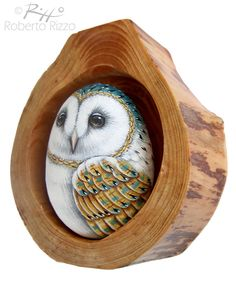 Barn Owl Nest Unique 3-D Art by Roberto Rizzo by RobertoRizzoArt