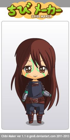 I made Cinder from The Lunar Chronicles, by Marissa Meyer! made with Chibi Maker by gen8 on Deviant art!