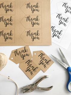 Free Printable Thank You Tags — Meghan Makes Do Thank You Tag Printable, Thank You Labels, Free Printable Tags, Thank You Tags, Free Printables, Appreciation Message, Volunteer Appreciation, Just In Case, Just For You
