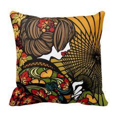"""SajuArt Zen """"Bangasa and Autumn Color"""" Pillow"""