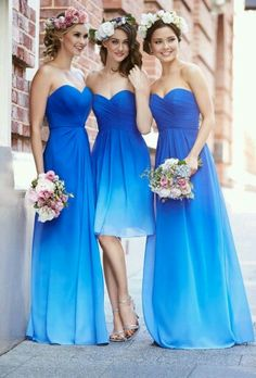 Damigelle in blu