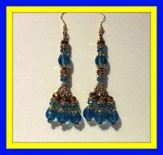 Beaded Earrings by MermaidBeachgear on Etsy