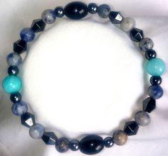 Magnetische Hämatit Jaspis Amazonit Achat Onyx Heilstein Armband Bracelet