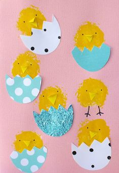 Craft for kids - Cute Easter Card Ideas - four cheeky monkeys