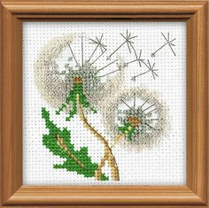 "Cross Stitch KIT 1319 ""Dandelion Seeds"" - by RIOLIS (Counted cross stitching, Sewing & Needlecraft, Embroidery pattern). Premium Quality."