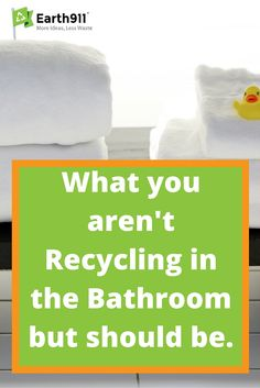 I hadn't really thought about recycling in the bathroom but all of those shampoo and conditioner bottles I use are made of plastic so it totally makes sense to recycle them.