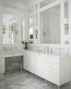 Modern master bathroom furnishingsation board features pins like small bathroom furnishings, dream master bathroom, dream house, home deco, downstairs loo and much Master Bathroom Vanity, Master Bathroom Layout, Master Bathrooms, Small Bathroom, Bathroom Vintage, White Bathrooms, Modern Bathrooms, Bathroom Renos, Bathroom Flooring