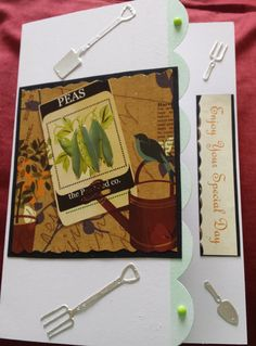 Enjoy your Special day -C5 gardening themed card using Hunkydory Big Book topper