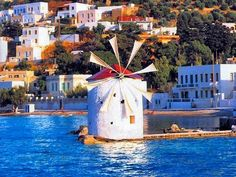 windmill at Leros, Greece Greek Sea, Myconos, Old Windmills, Rare Orchids, Greece Islands, Greece Travel, Crete, Santorini, Places To See