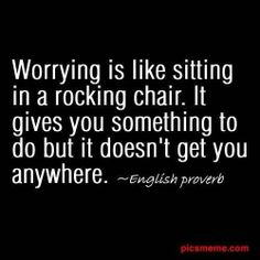 Stop worrying, start doing