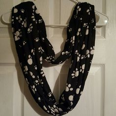 Scarf This puppy paws scarf is new and in great condition! jcpenney Accessories Scarves & Wraps